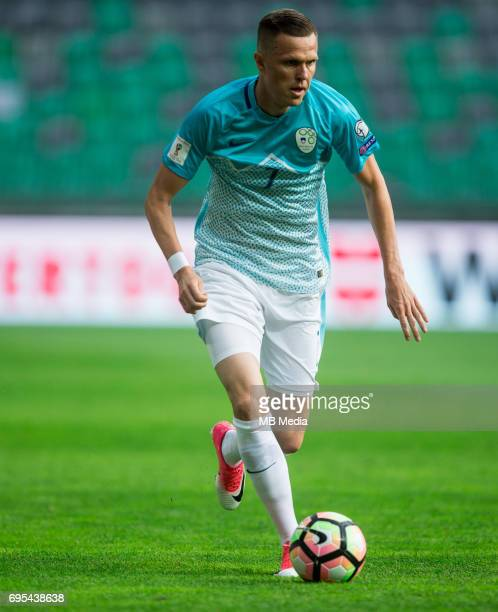Josip Ilicic of Slovenia in action during football match between National teams of Slovenia and Malta in Round of FIFA World Cup Russia 2018...