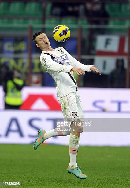 Josip Ilicic of US Citta di Palermo during the Serie A match between FC Internazionale Milano and US Citta di Palermo at San Siro Stadium on December...
