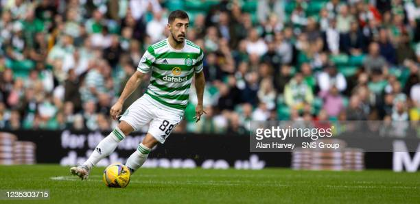 Josip Juranovic in action for Celtic during a cinch Premiership match between Celtic and Ross County at Celtic Park on September 11 in Glasgow,...