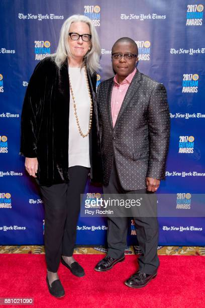 Joslyn Barnes and Yance Ford attend the 2017 IFP Gotham Awards at Cipriani Wall Street on November 27 2017 in New York City