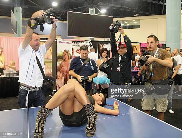 Joslyn James attends Exxxotica Miami Beach at the Miami Beach Convention Center on May 19 2012 in Miami Beach Florida