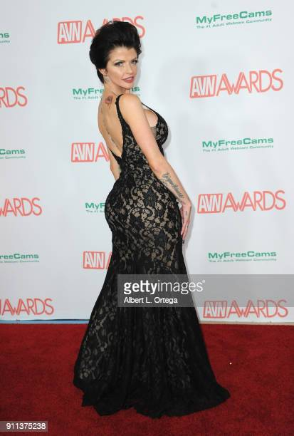 Joslyn James attends the 2018 Adult Video News Awards held at Hard Rock Hotel Casino on January 27 2018 in Las Vegas Nevada