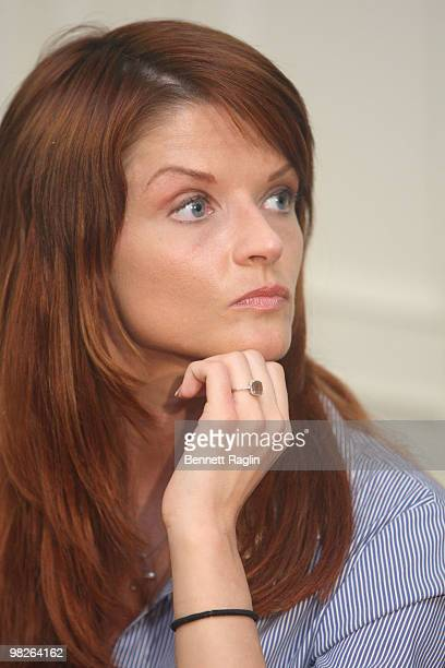 Joslyn James reacts to Tiger Woods' news conference at the New York Friars Club on April 5 2010 in New York City