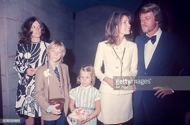 Jospeh Roster with Jennifer O'Neill and her children on their wedding day 1972