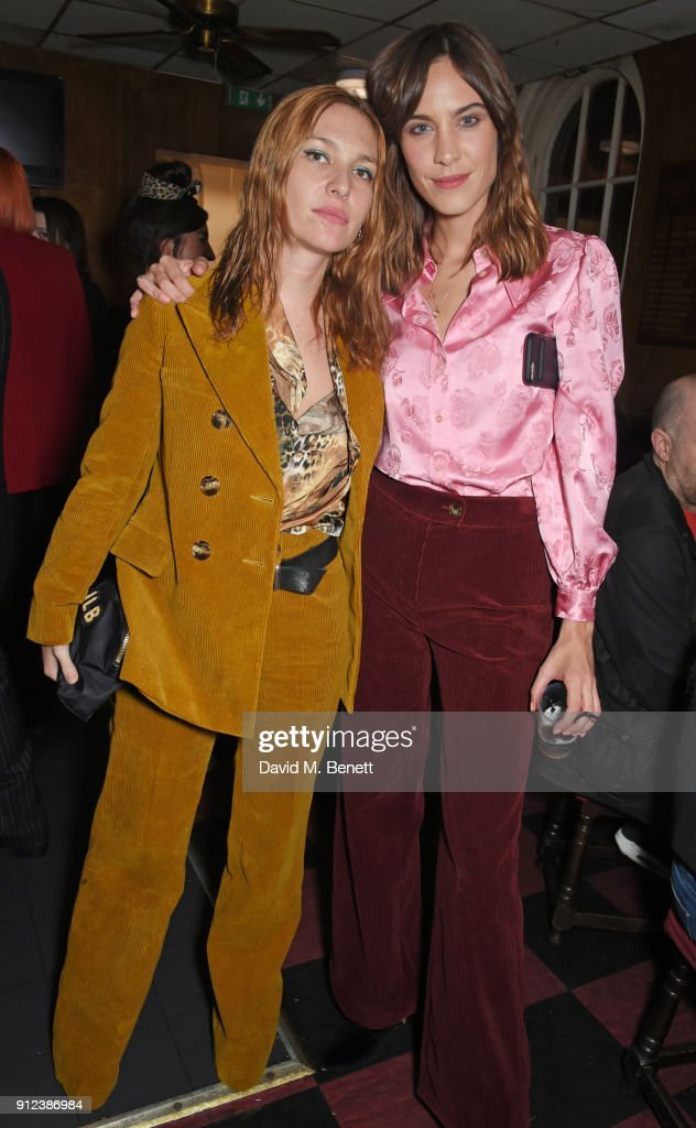 Jospehine de la Baume (L) and Alexa Chung attend the ALEXACHUNG Fantastic collection party on January 30, 2018 in London, England.