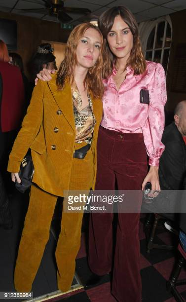 Jospehine de la Baume and Alexa Chung attend the ALEXACHUNG Fantastic collection party on January 30 2018 in London England