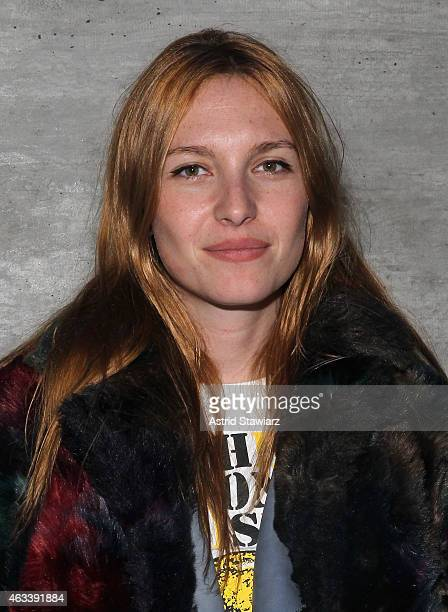 Joséphine de La Baume attends the Charlotte Ronson fashion show during MercedesBenz Fashion Week Fall 2015 at The Pavilion at Lincoln Center on...
