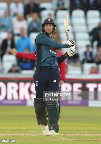 Joss Buttler of England batts during the 4th Royal London ODI at Emirates Durham ICG on June 21 2018 in ChesterleStreet England