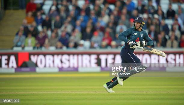 Joss Buttler of England celebrate during the 4th Royal London ODI at Emirates Durham ICG on June 21 2018 in ChesterleStreet England