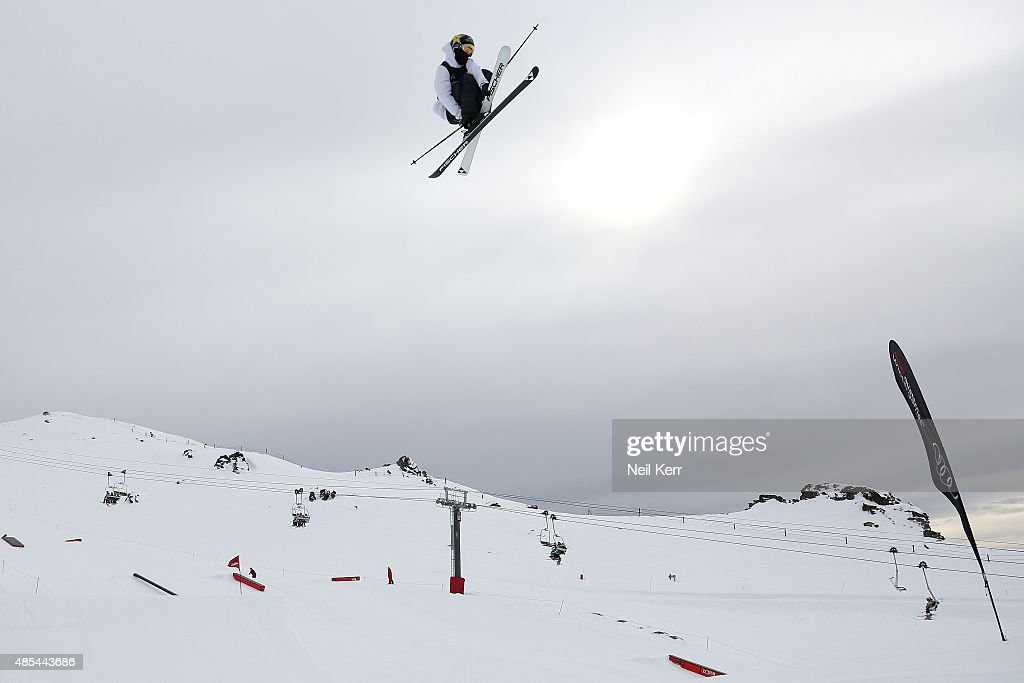 Joss Christensen of the United States competes in the FIS Freestyle Ski World Cup Slopestyle Finals during the Winter Games NZ at Cardrona Alpine Resort on August 28, 2015 in Wanaka, New Zealand.