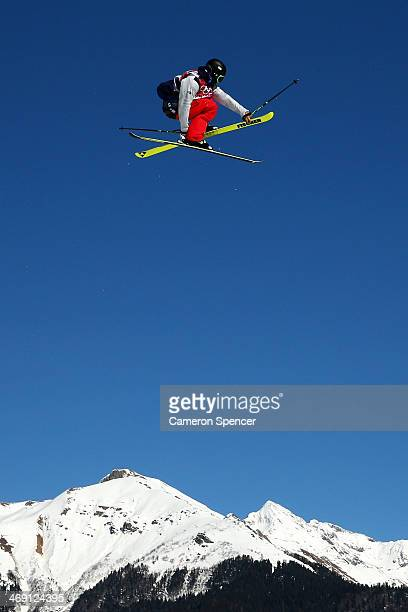 Joss Christensen of the United States competes in the Freestyle Skiing Men's Ski Slopestyle Finals during day six of the Sochi 2014 Winter Olympics...