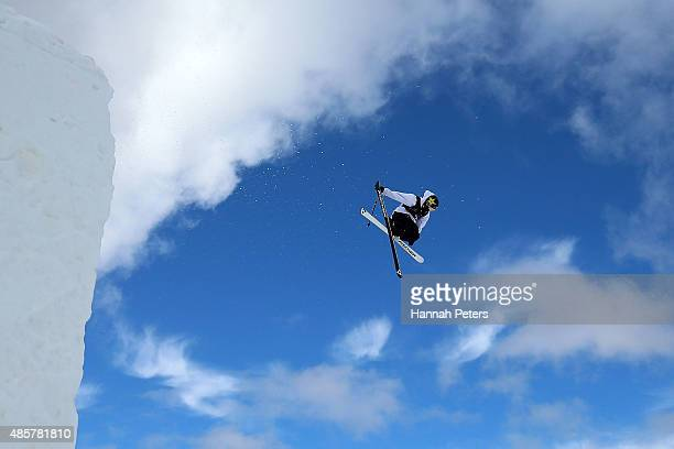 Joss Christensen of the United States competes in the Snowboard AFP Freeski Big Air Finals during the Winter Games NZ at Cardrona Alpine Resort on...