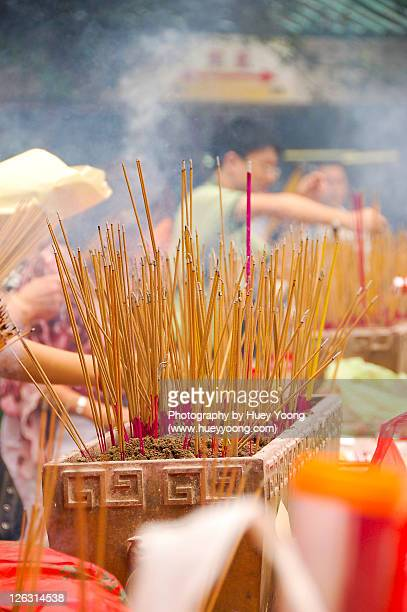 Joss sticks during chinese prayer