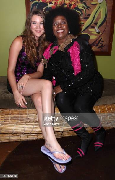 Joss Stone and Betty Wright attend the Operation Hope For Haiti Benefit at Bongos on January 24 2010 in Miami Florida