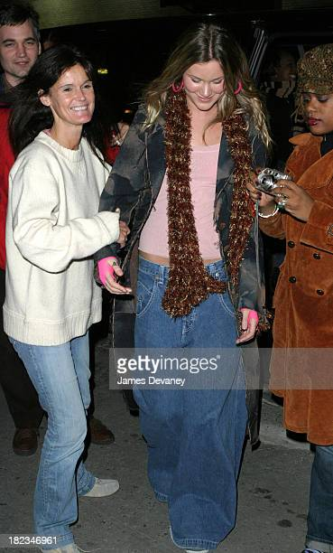 Joss Stone and mother during Robert Downey Jr and Joss Stone Stop By The Late Show with David Letterman at Ed Sullivan Theatre in New York City New...