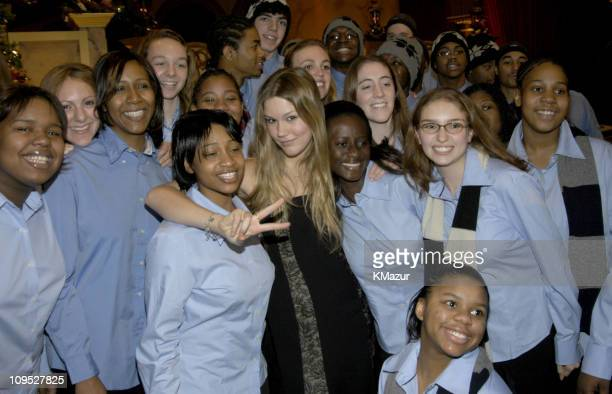 Joss Stone and The American Family Choir during TNT's Christmas in Washington Concert Backstage at The National Building Museum in Washington DC...