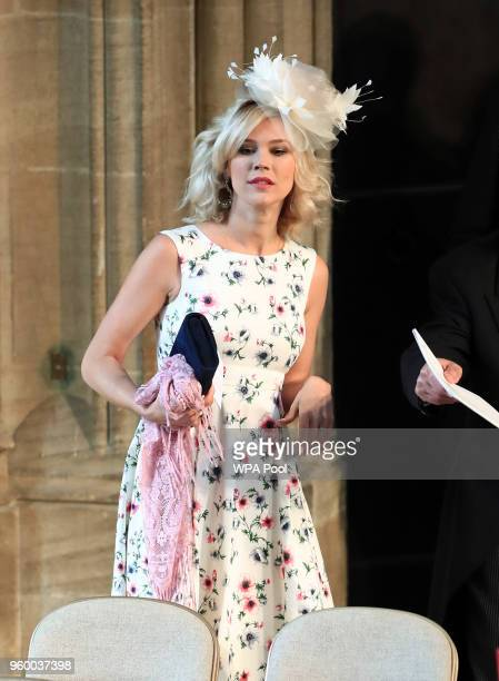 Joss Stone arrives at St George's Chapel at Windsor Castle for the wedding of Prince Harry to Meghan Markle on May 19 2018 in Windsor England