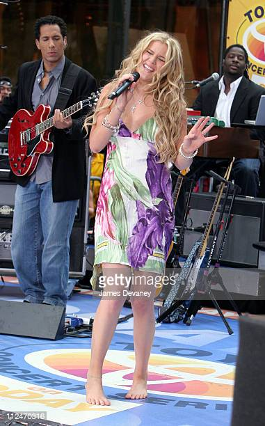 """Joss Stone during Joss Stone Performs on the 2005 NBC's """"The Today Show"""" Summer Concert Series - August 26, 2005 at NBC Studios - Rockefeller Plaza..."""