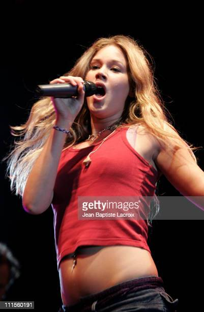 Joss Stone during Rock on Scene Festival 2004 Joss Stone in Concert at St Cloud National Forest in Paris France