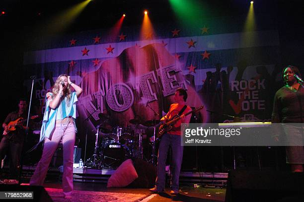 Joss Stone during Rock The Vote 2004 National Bus Tour Concert June 16 2004 at Avalon in Hollywood California United States