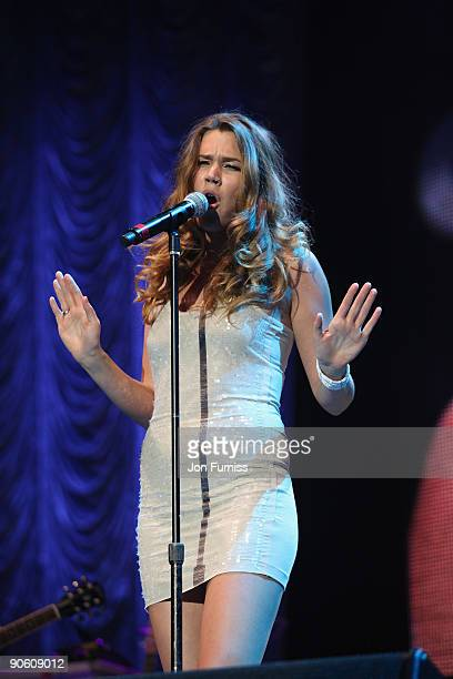 Joss Stone on stage at the O2 Rockwell concert in aid of Nordoff-Robbins Music Therapy at 02 Arena on September 11, 2009 in London, England.
