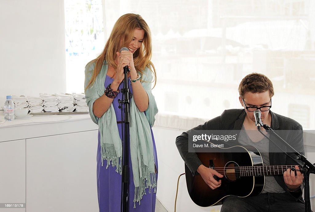 Joss Stone performs a lunch hosted by Len Blavatnik, Harvey Weinstein and Warner Music during the 66th Cannes Film Festival on board the Odessa at Old Port on May 19, 2013 in Cannes, France.