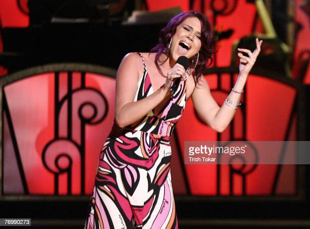 Joss Stone performs at the 29th Annual Evening of Stars honoring Smokey Robinson presented by the United Negro College Fund at the Pasadena Civic...