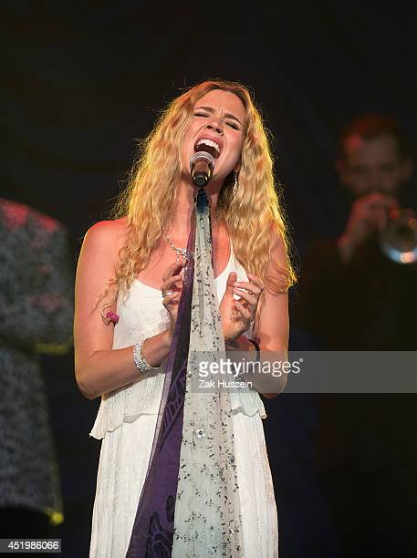 Joss Stone performs at The Henley Festival on July 10 2014 in HenleyonThames England