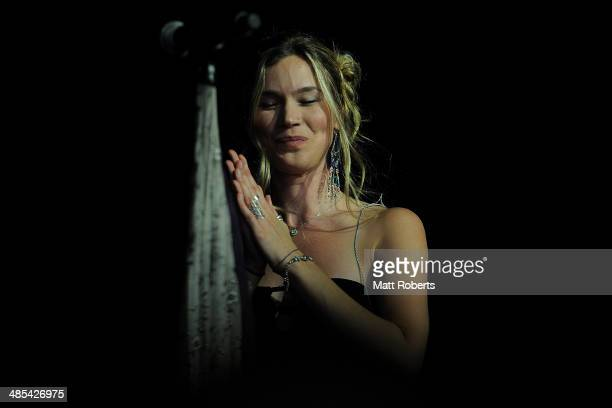 Joss Stone performs live for fans at the 2014 Byron Bay Bluesfest on April 18 2014 in Byron Bay Australia