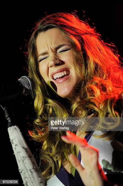 Joss Stone performs on stage at the EWerk on February 24 2010 in Cologne Germany