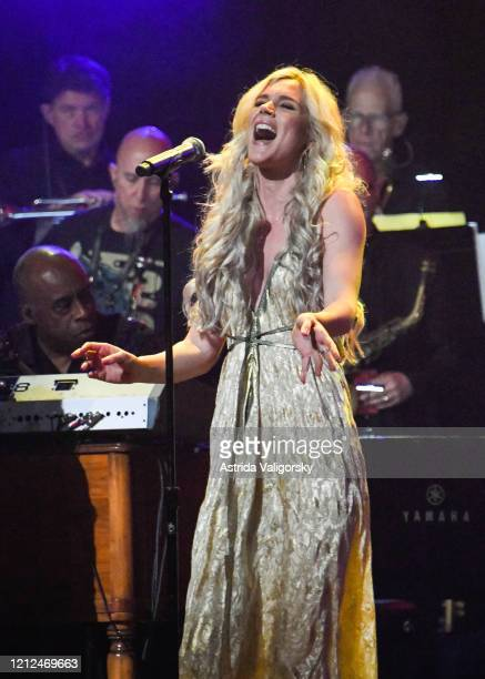 Joss Stone performs on stage during the Fourth Annual LOVE ROCKS NYC benefit concert for God's Love We Deliver at Beacon Theatre on March 12 2020 in...
