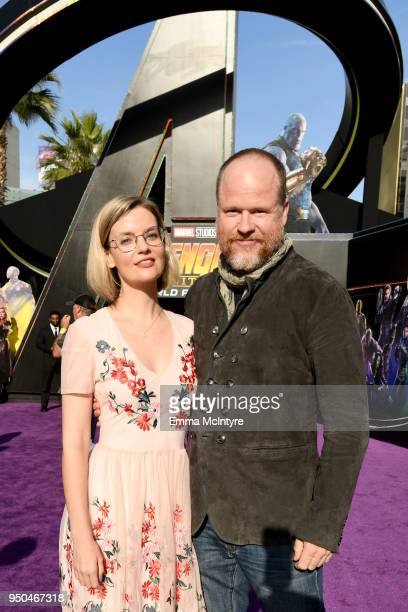 Joss Whedon and guest attend the premiere of Disney and Marvel's 'Avengers Infinity War' on April 23 2018 in Los Angeles California