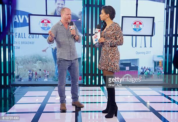 Joss Whedon and host Nessa speak on MTV Total Registration Live at MTV Studios on September 27 2016 in New York City
