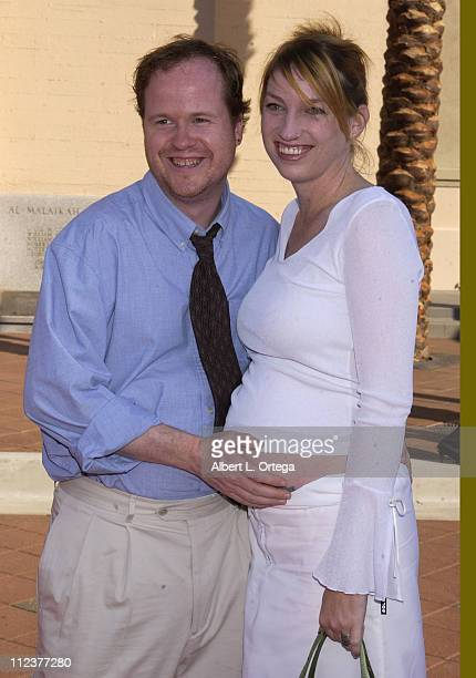 Joss Whedon and Kai during 2002 Creative Arts Emmy Awards Arrivals at Shrine Auditorium in Los Angeles California United States