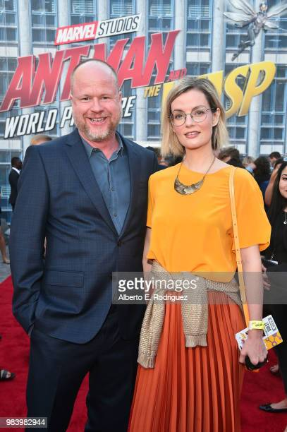 Joss Whedon and Siobhan Thompson attend the Los Angeles Global Premiere for Marvel Studios' AntMan And The Wasp at the El Capitan Theatre on June 25...