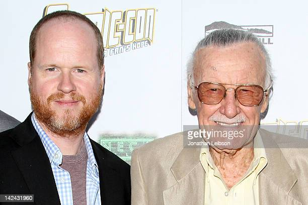 Joss Whedon and Stan Lee arrive to Morgan Spurlock's New Film ComicCon Episode IV A Fan's Hope at ArcLight Hollywood on April 4 2012 in Hollywood...
