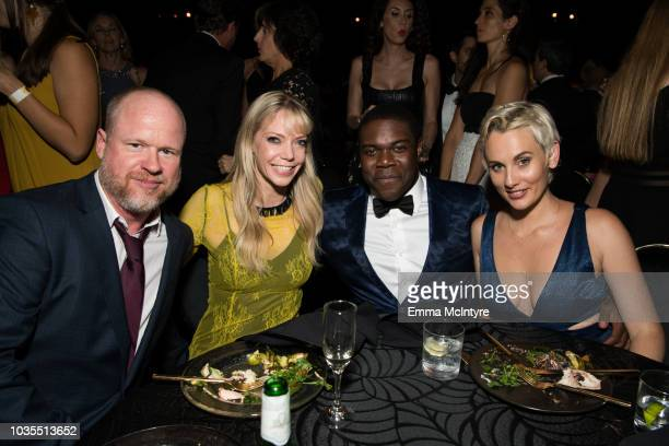 Joss Whedon, Riki Lindhome, Sam Richardson and guest attend HBO's Post Emmy Awards Reception at the Plaza at the Pacific Design Center on September...