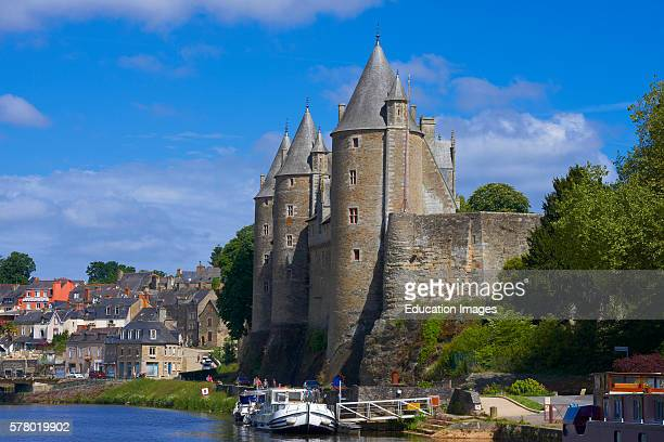 Josselin Brittany Josselin Castle Morbihan Canal between Nantes and Brest Pontivy district France