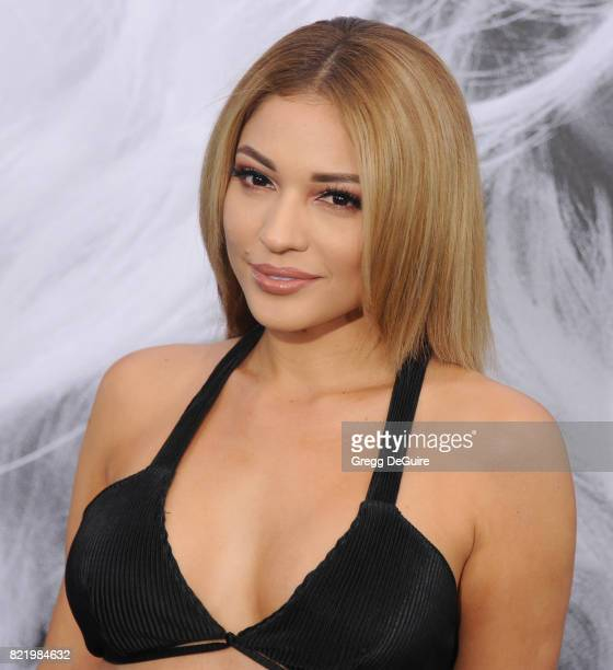 Jossie Ochoa arrives at the premiere of Focus Features' 'Atomic Blonde' at The Theatre at Ace Hotel on July 24 2017 in Los Angeles California
