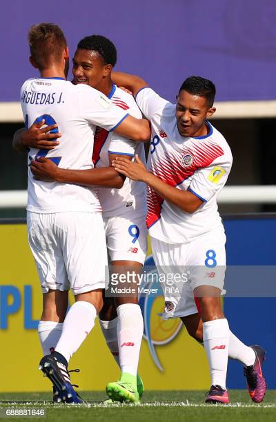 Jostin Daly of Costa Rica celebrates with Jimmy Marin and Pablo Arguedas after scoring a goal during the FIFA U20 World Cup Korea Republic 2017 group...