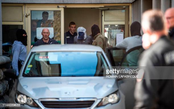 Josu Ternera one of the most influential leaders of former Basque separatist group ETA is escorted by police as he leaves the law court of Bonneville...