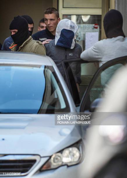 Josu Ternera, one of the most influential leaders of former Basque separatist group ETA is escorted by police as he leaves the law court of...