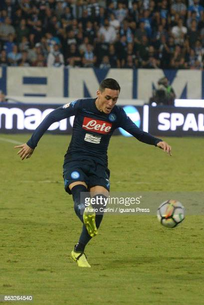 Josu008e Callejon of SSC Napoli in action during the Serie A match between Spal and SSC Napoli at Stadio Paolo Mazza on September 23 2017 in Ferrara...