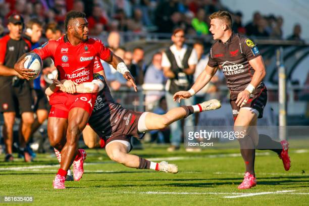 Josua Tuisova of Toulon during the European Champions Cup match between Toulon and Scarlets on October 15 2017 in Toulon France