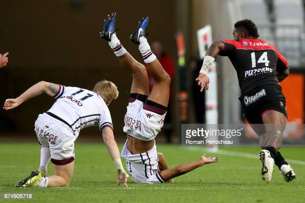 Josua Tuisova of Toulon in action during the French Top 14 union match between Union Bordeaux Begles and Toulon RC at stade Matmut Atlantique at...