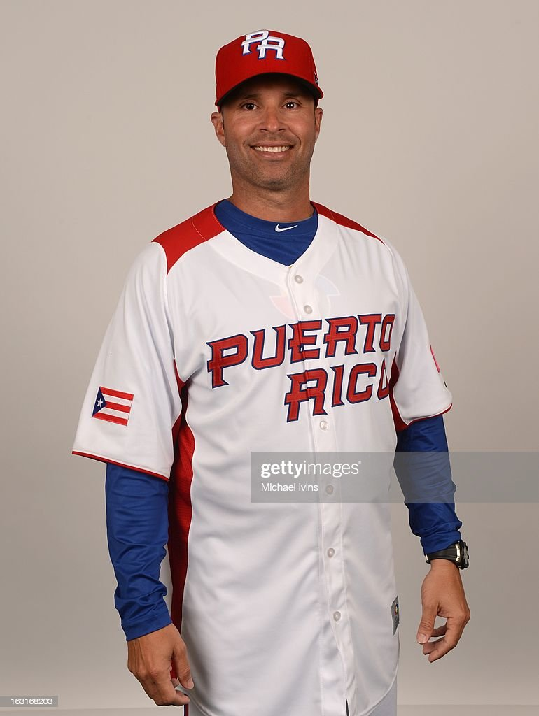 Josue Espada #6 of Team Puerto Rico poses for a headshot for the 2013 World Baseball Classic at the City of Palms Baseball Complex on Monday, March 4, 2013 in Fort Myers, Florida.