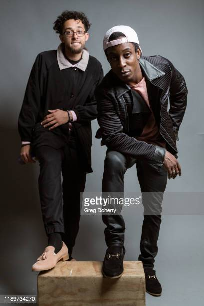 Josue Monge and Shaka Smith attend Project Save Our Surf Awareness Day at TAP The Artists Project on November 20 2019 in Los Angeles California
