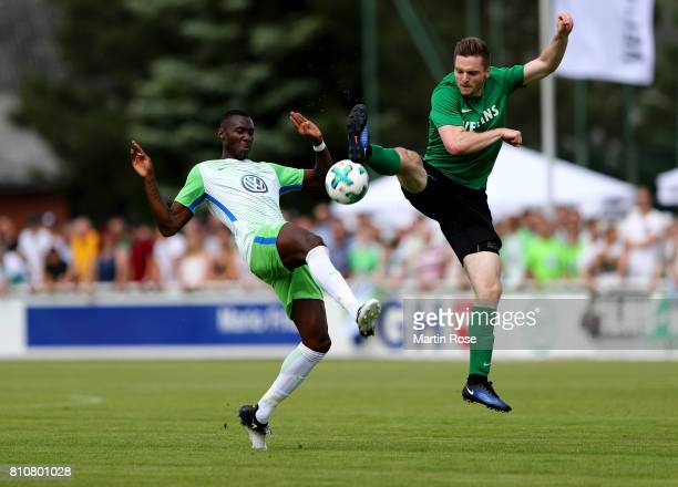 Josuha Guilavogui of Wolfsburg in action against players of Gifhorn during the preseason friendly match between Gifhorner SV and VfL Wolfsburg at GWG...