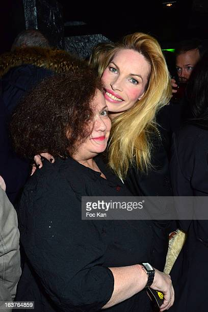 Josy Foichat and Laurence Treil attend the 'The Door' Club Opening Cocktail and Patrick Skatcha Art Exhibition Preview at The Door Club on March 14...