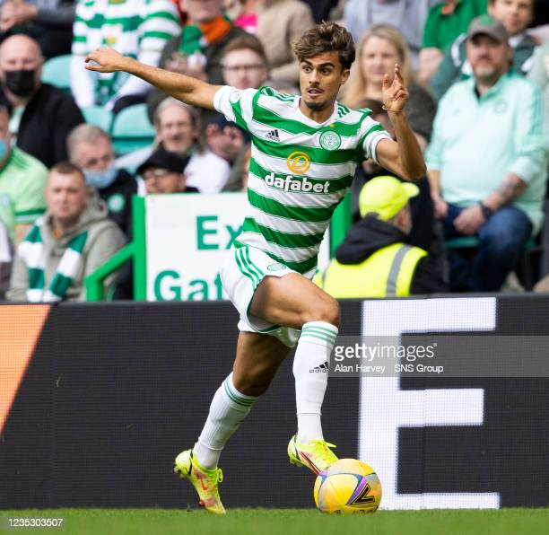 Jota in action for Celtic during a cinch Premiership match between Celtic and Ross County at Celtic Park on September 11 in Glasgow, Scotland